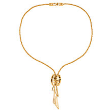 Buy Susan Caplan Vintage 1970s Monet Lariat Style Twist Knot Pendant Necklace, Gold Online at johnlewis.com