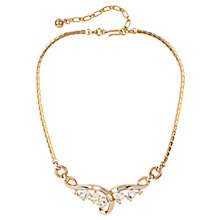 Buy Susan Caplan Vintage 1950s Trifari Swarovski Crystal Deco Necklace, Gold Online at johnlewis.com