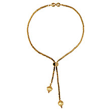 Buy Susan Caplan Vintage 1970s Monet Lariat Slide Necklace, Gold Online at johnlewis.com