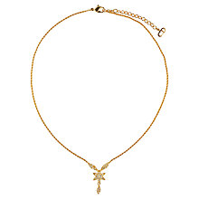 Buy Susan Caplan Vintage 1990s Christian Dior Swarovski Crystal Flower Pendant, Gold Online at johnlewis.com