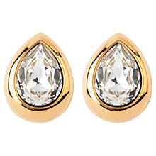 Buy Susan Caplan Vintage Bridal 1980s Pear Shaped Swarovski Crystal Clip-On Earrings, Gold Online at johnlewis.com