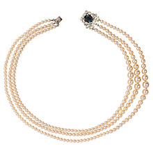 Buy Susan Caplan Vintage Bridal 1980s Swarovski Crystal Clasp Faux Pearl Necklace, White Online at johnlewis.com