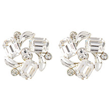 Buy Susan Caplan Vintage 1950s Lisner Swarovski Crystal Floral Clip-On Earrings, Silver Online at johnlewis.com