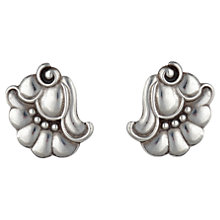 Buy Sharon Mills 1920s Nouveau Flower Earrings, Silver Online at johnlewis.com