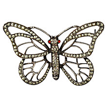 Buy Sharon Mills Vintage Open Work Butterfly Brooch, Silver Online at johnlewis.com