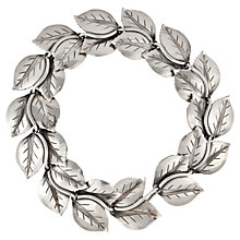 Buy Sharon Mills 1940s-50s Leaves Bracelet, Silver Online at johnlewis.com