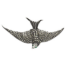 Buy Sharon Mills Marcasite Bird Brooch, Silver Online at johnlewis.com