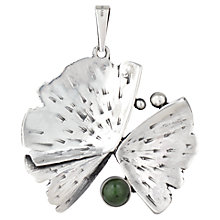Buy Sharon Mills Abstract Flower Agate Pendant, Silver Online at johnlewis.com