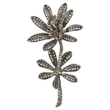Buy Sharon Mills 1950s Large Double Flower Brooch, Silver Online at johnlewis.com