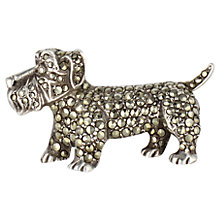 Buy Sharon Mills 1950s Scottie Dog Brooch, Silver Online at johnlewis.com