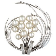 Buy Sharon Mills Large Circlular Swirling Brooch, Silver Online at johnlewis.com