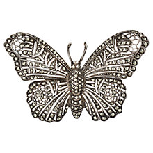 Buy Sharon Mills 1950s Marcasite Butterfly Brooch, Silver Online at johnlewis.com