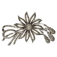 Buy Sharon Mills 1963 Flower/Ribbon Brooch, Silver Online at johnlewis.com