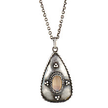 Buy Sharon Mills Moonstone Pendant & Chain, Silver Online at johnlewis.com