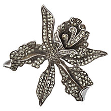 Buy Sharon Mills Vintage 1950s Silver Orchid Flower Brooch, Silver Online at johnlewis.com