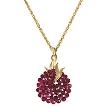 Buy Alice Joseph Vintage Trifari Diamante Cluster Pendant and Earrings Set, Fuchsia Online at johnlewis.com
