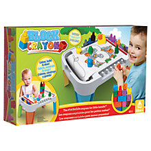 Buy Block Crayon Activity Table Online at johnlewis.com
