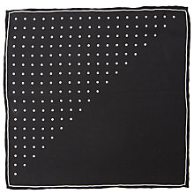 Buy John Lewis Half Dot Pocket Square, Black Online at johnlewis.com