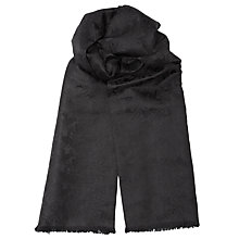 Buy John Lewis Paisley Scarf, Black Online at johnlewis.com