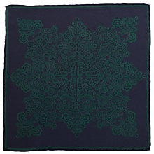 Buy John Lewis Archive Print Pocket Square, Blue/Green Online at johnlewis.com