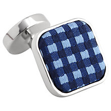 Buy Thomas Pink Warren Woven Button Cufflinks Online at johnlewis.com