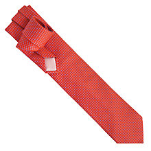 Buy Thomas Pink Gordon Neat Woven Tie, Red/Grey Online at johnlewis.com