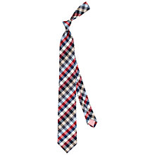 Buy Thomas Pink Selby Check Woven Tie, Grey/Red Online at johnlewis.com