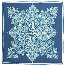 Buy John Lewis Archive Print Pocket Square, Blue Online at johnlewis.com