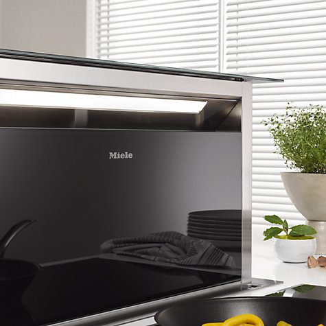 Buy Miele DA6890 Downdraft Cooker Hood, Black Online at johnlewis.com