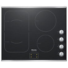 Buy Miele KM6325 Induction Hob, Black Online at johnlewis.com