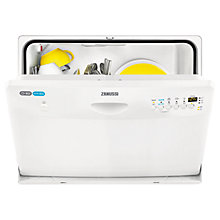 Buy Zanussi ZDM16301WA Compact Dishwasher, White Online at johnlewis.com