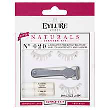 Buy Eylure Naturals False Eyelash Starter Kit, Black Online at johnlewis.com
