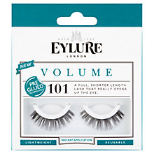 Buy Eylure Volume Pre-Glued False Eyelash Strips, Black Online at johnlewis.com