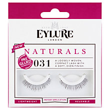 Buy Eylure Naturals Pre-Glued False Eyelash Strips, Black Online at johnlewis.com