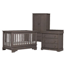 Buy Boori Eton Cupboard, Dresser and Cotbed Set, Mocha Online at johnlewis.com