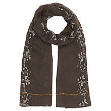 Buy Jigsaw Antique Sequin Scarf, Grey Online at johnlewis.com