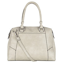 Buy Warehouse Panelled Day Bag, Light Grey Online at johnlewis.com