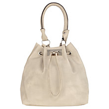 Buy Warehouse Textured Duffle Bag, Light Grey Online at johnlewis.com
