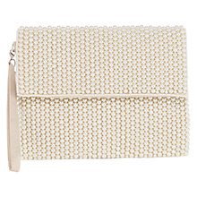 Buy Coast Pearl Felicia Clutch Bag, Pearl Online at johnlewis.com