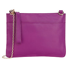 Buy Oasis Stephanie Leather Cross-Body Clutch Bag, Deep Pink Online at johnlewis.com