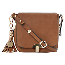 Buy Dune Dushroom Tassle Trim Saddle Bag, Tan Online at johnlewis.com