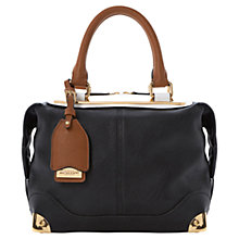 Buy Dune Deebar Metal Barrel Shoulder Bag, Black Online at johnlewis.com