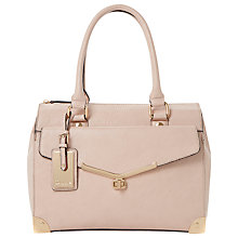 Buy Dune Dorisey Leather Mini Barrel Bag, Pink Online at johnlewis.com