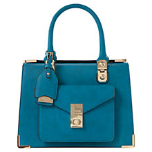 Buy Dune Durntop Metal Corner Shoulder Bag, Teal Online at johnlewis.com