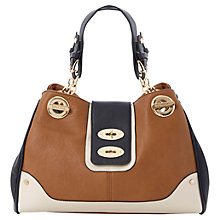 Buy Dune Dubbylock Double Turnlock Colour Block Bag, Tan Online at johnlewis.com