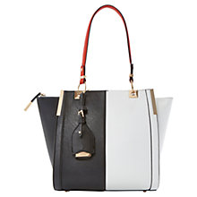 Buy Dune Dancer Colour Block Tote Bag, Black / White Online at johnlewis.com