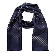 Buy Gant Dot Diamond Silk Scarf, Midnight Sky Online at johnlewis.com