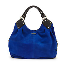 Buy Paul's Boutique Gracie Slouchy Leather Hobo Bag, Electric Blue Online at johnlewis.com