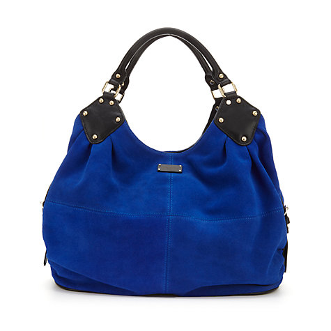 ... Gracie Slouchy Leather Hobo Bag, Electric Blue Online at johnlewis