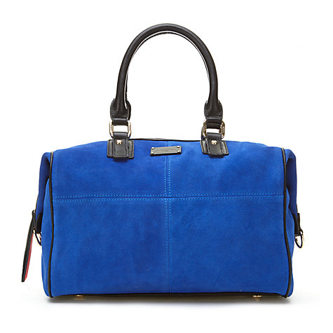 Buy Paul's Boutique Porter Slouchy Leather Hobo Bag, Electric Blue Online at johnlewis.com